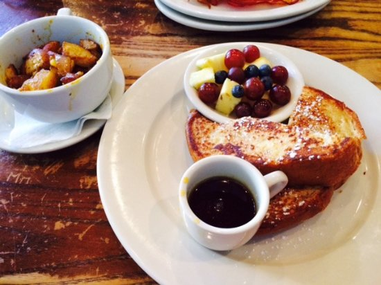 Busboys and Poets: French Toast/Fresh fruit/ home fries