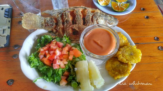 Ojochal, Costa Rica: I ordered my tilapia dish without rice.