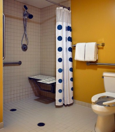 East Lansing, MI: Accessible Studio Suite Bathroom