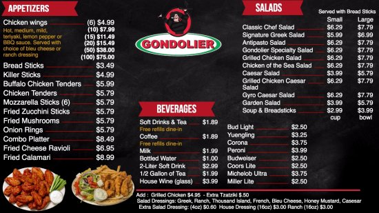 Cartersville, GA: We have a diverse menu including gyro, stromboli, calzones, salads, pasta, sandwiches, and more!
