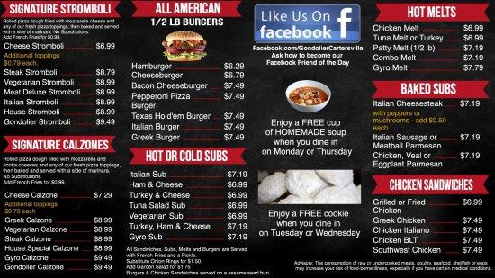 Cartersville, GA: Stromboli, Calzones, and Sandwiches
