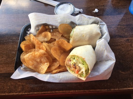 Hartville, OH: Fajita chicken wrap with homemade crispy fries