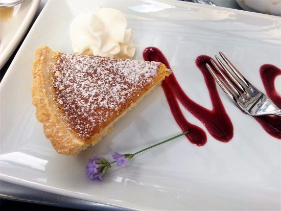 Lemon tart, Monte Creek Ranch Winery, Kamloops, BC