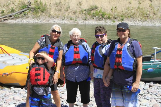 West Glacier, MT: Ready to do some scenic rafting!