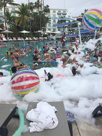 Hard Rock Hotel Vallarta : Iguanas and pool party