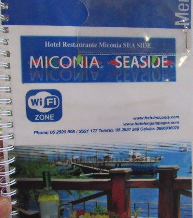 Restaurante Miconia: menu