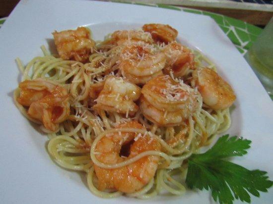 Restaurante Miconia: pasta with shrimps