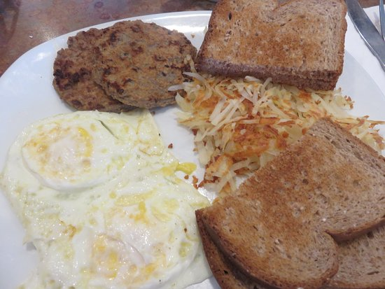 Menominee, MI: Turkey sausage, with eggs, hash browns and wheat toast