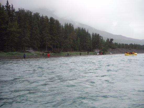 Cooper Landing, AK: Fishermen fishing for salmon during our trip