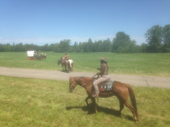 Camp Five Museum: Cowboy reenactment