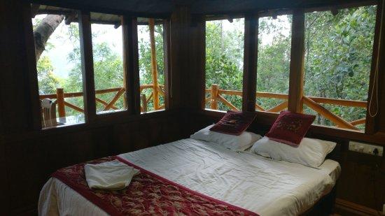 Aluva, India: Tree house interior_During day