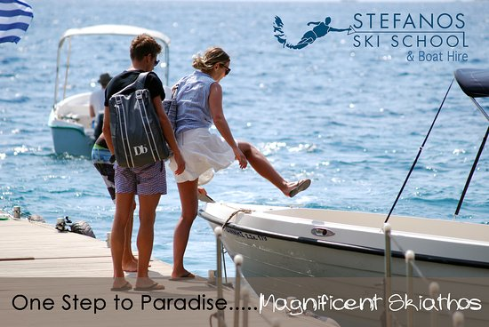 Ciudad de Skiathos, Grecia: One step to paradise!!! :)