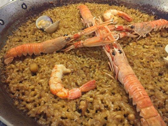 El Saler, Espagne : Paella de marisco