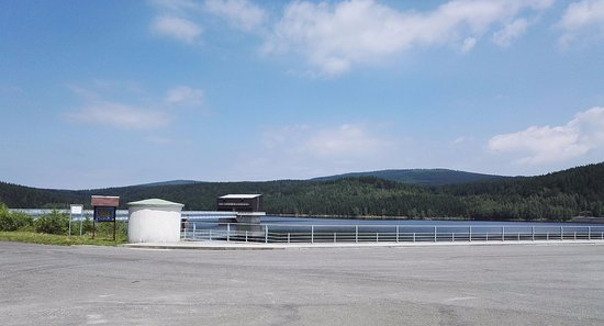 Josefův Důl, Česká republika: z hráze Josefodolské přehrady