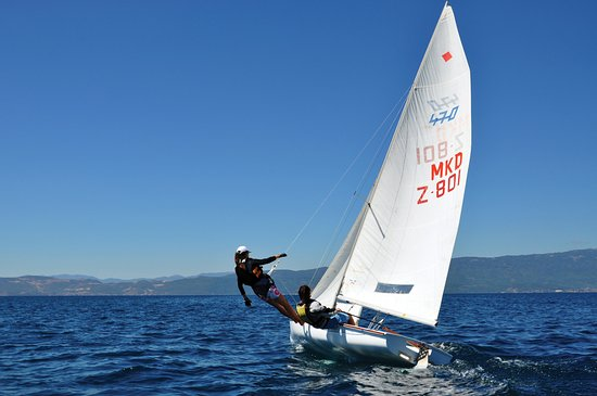 Mazedonien: Ohrid sailing boats