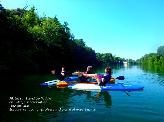 Gignac Canoë Kayak: Pilates Paddle, une nouveauté sur l'Hérault ! Venez vous gainer, vous assouplir en douceur !
