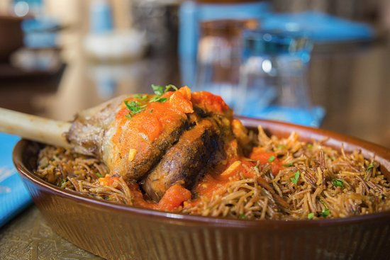 Al Khal Egyptian Restaurant: Lamb shank and brown vermicelli braised in their own juices