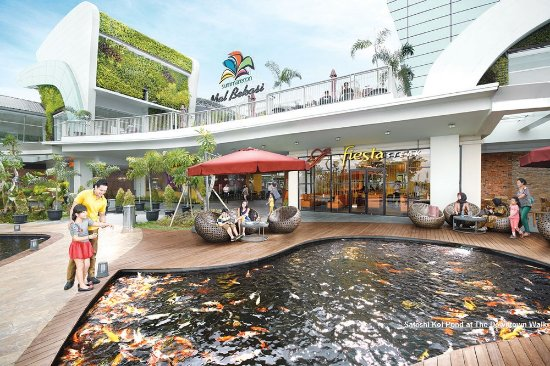 Bekasi, Indonesia: Koi Pond at The Downtown Walk