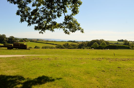 St Austell, UK: View over the fields