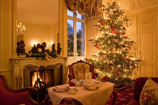 salon belle epoque during christmas season picture of