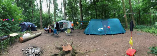 """Hollybush Inn & Campsite: This camping area is past the """"shop"""" turn right, and then left at the end of the caravan area."""