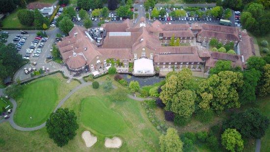 Bearsted, UK: Vue aérienne de l'hôtel