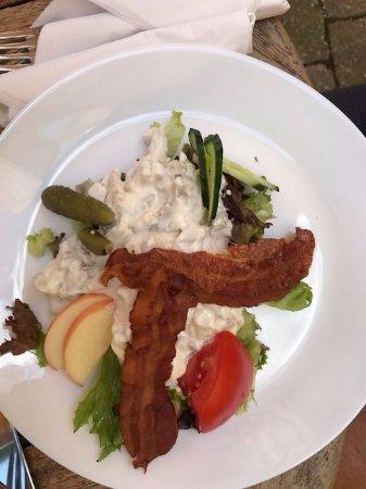 Radmand Davids Hus : Hönsesallat med bacon