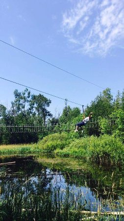 Baileys Harbor, WI: Me a 56 year old enjoying zipping!!!! First time i have ever did it will be back!