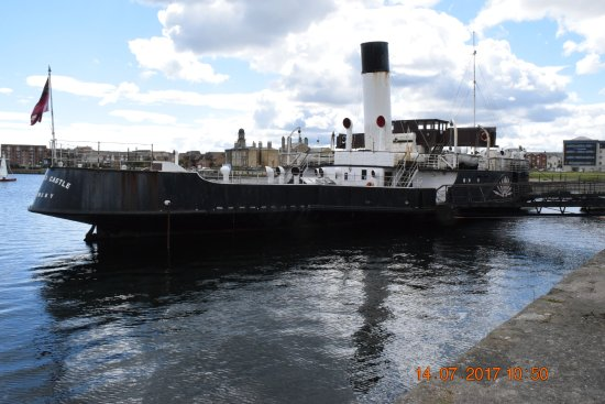 Hartlepool, UK: View of the steamer from the dock