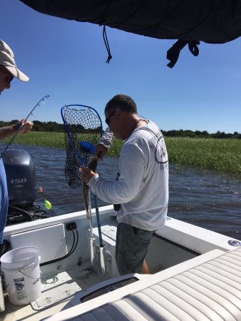 Southport, Carolina del Nord: Tommy handling the fish