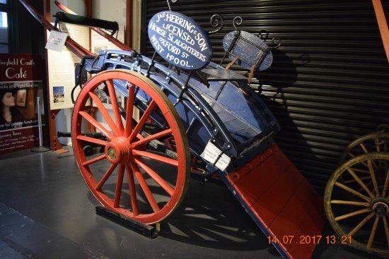 Hartlepool, UK: A cart near the entrance