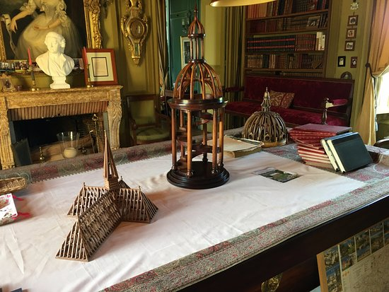 Saint Paterne Racan, France: The Study Room with Architectural models.