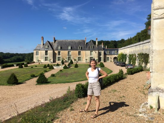 Saint Paterne Racan, France: Chateau view from the Orangerie