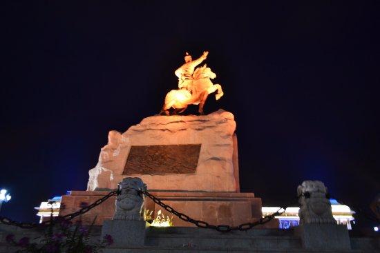 De nuit, la place dans son ensemble - Picture of Genghis Khan Square ...