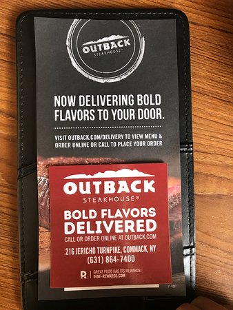 Commack, Nova York: Outback now Delivers!!!!