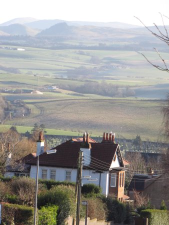 Maybole, UK: View of Gardenrose B&B and the countryside beyond