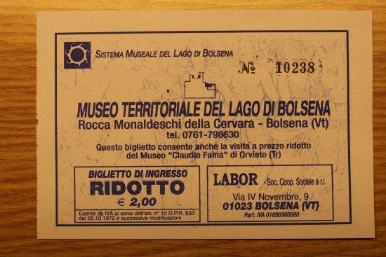 Болсена, Италия: Eintrittskarte