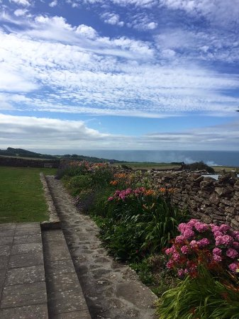 The Manor House: the beautiful gardens and view to the sea