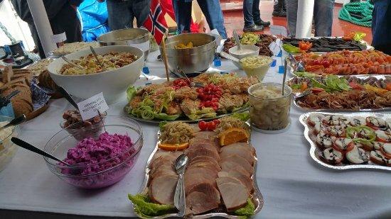 Straumsjoen, Norwegen: Lunch buffet