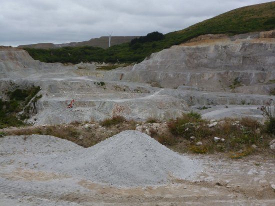 St Austell, UK: The pit -spot the digger!