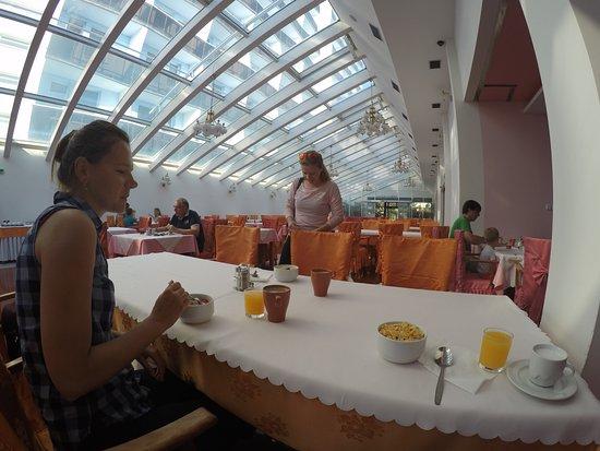 Hotel Nivy: Breakfast/dining room.