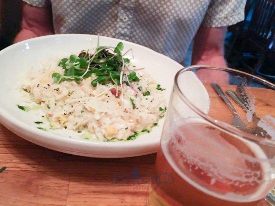 Basi Italia: Crab Risotto and Seventh Sons brew