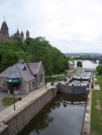 Ottawa, Kanada: Locks from above