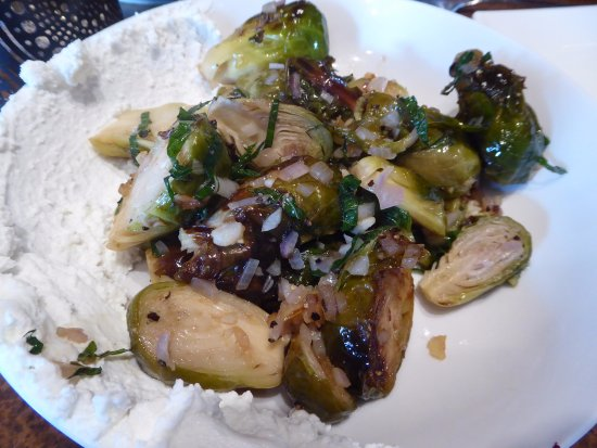 Pittsfield, MA: Brussels sprouts with goat cheese