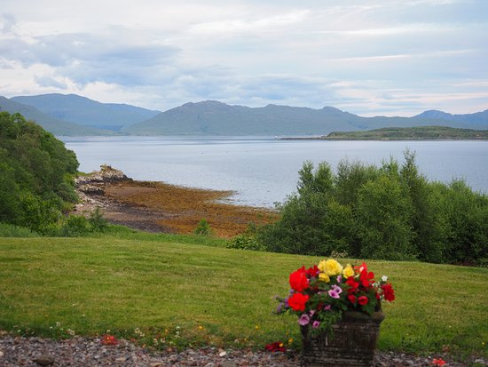 View from room in the South house over the Sound of Sleat