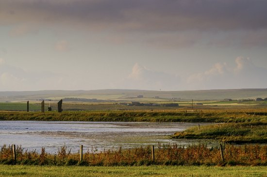 Stenness, UK: view of stones from hotel