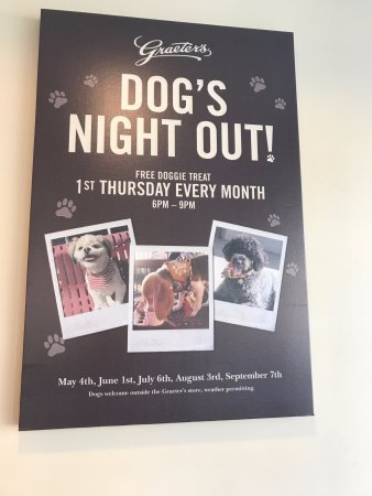 Winnetka, IL: Very Pup-Friendly! Free dog treats one night per month. They also sell doggie treats to go every