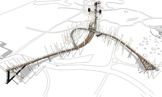 Midland, MI: The centerpiece of the project is a 1400-foot canopy walk (the longest in the nation).