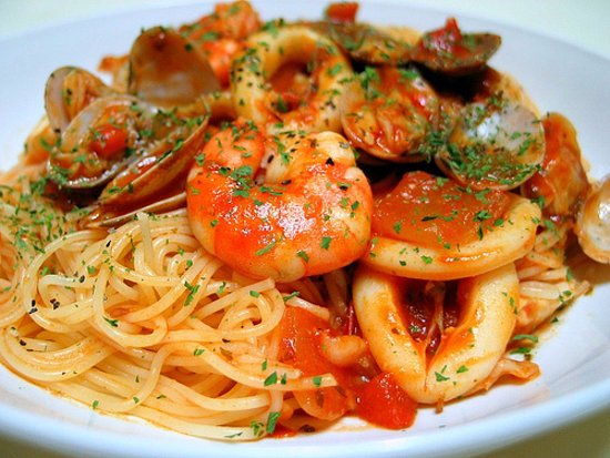 Briarcliff Manor, NY: Seafood Pasta