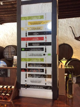 Bodega La Geria- wine selection